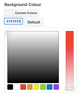 Color Palette Option Example