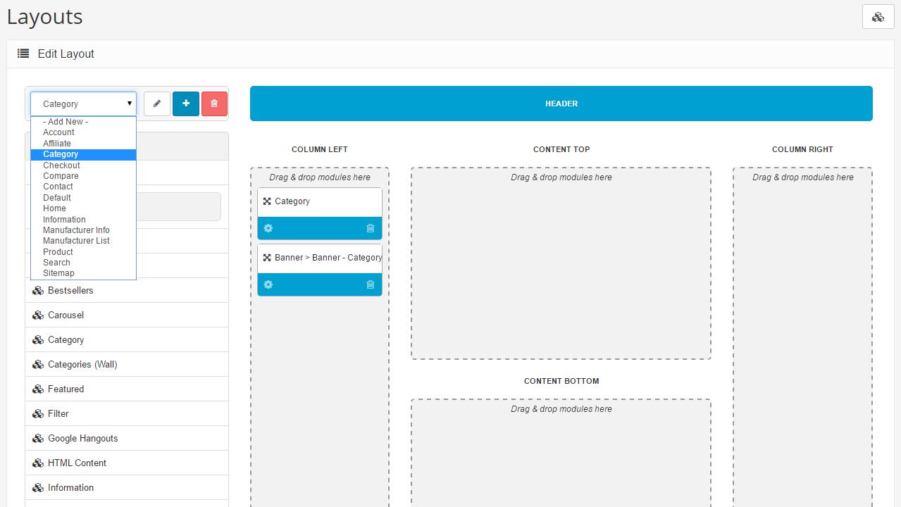 Editing a Module - Documentation - Arastta eCommerce