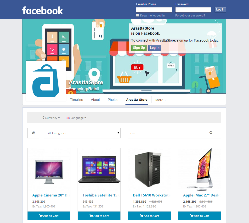 Facebook Store - Documentation - Arastta eCommerce