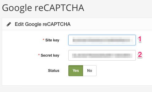 Captcha - Documentation - Arastta eCommerce