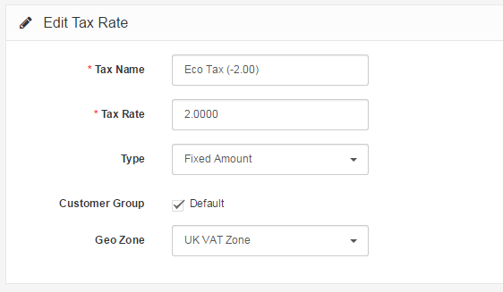 add tax rate backend