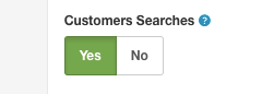 Customers Search option