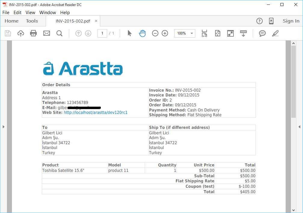 Homewouldcom  Prepossessing Invoices  Documentation  Arastta Ecommerce With Exquisite Pdf Invoice With Beauteous Stripe Invoice Email Also Processing Invoices In Sap In Addition What Is Profoma Invoice And Invoice Reminder Template As Well As What Is Invoice And Receipt Additionally Free Open Office Invoice Template From Arasttaorg With Homewouldcom  Exquisite Invoices  Documentation  Arastta Ecommerce With Beauteous Pdf Invoice And Prepossessing Stripe Invoice Email Also Processing Invoices In Sap In Addition What Is Profoma Invoice From Arasttaorg